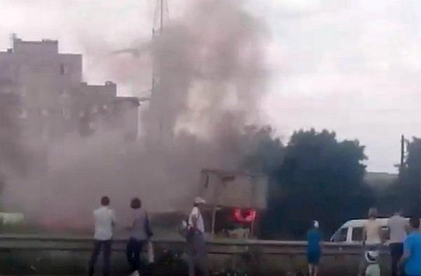 В Магнитогорске загорелся учебный автобус