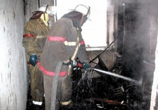 На Октябрьской горела жилая квартира