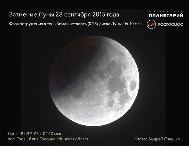 Сегодня будет частное затмение Луны