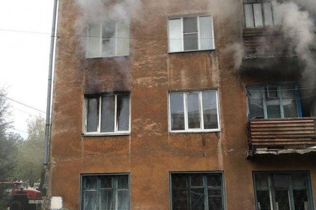 В пожаре чуть не угорел ребёнок