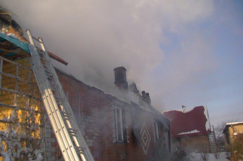 Дом выгорел почти полностью
