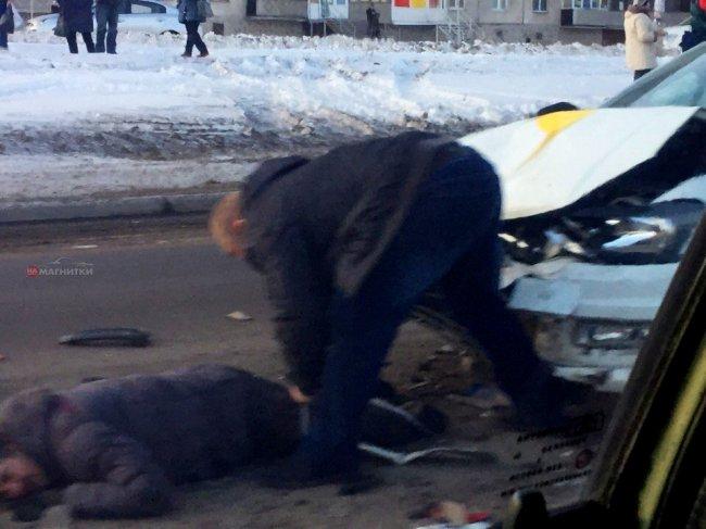 Магнитогорец попал под колёса такси
