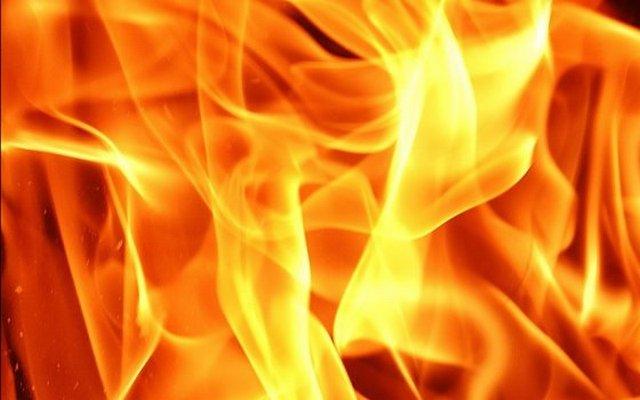 В пожаре пострадал ребёнок