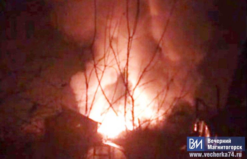 Садовый домик сгорел дотла