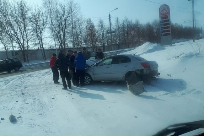 На улице Гагарина произошло серьёзное ДТП