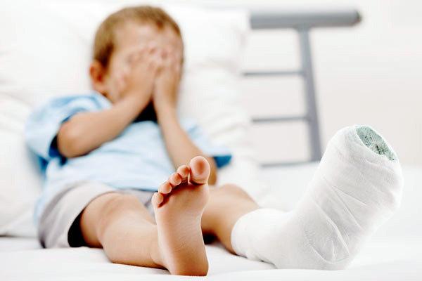 У мальчика сложный перелом ноги