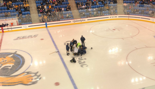 Хоккеист угодил в больницу