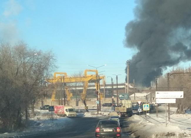 Огнём охвачены 750 квадратных метров