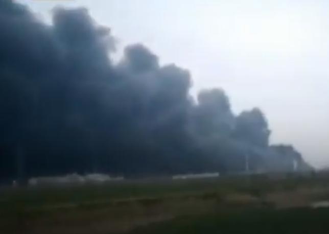 В Китае на заводе прогремел взрыв