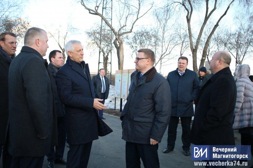 Губернатор посетил парк и Центральный стадион