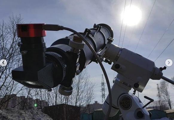 Новосибирский фотограф снял пролет МКС на фоне Солнца