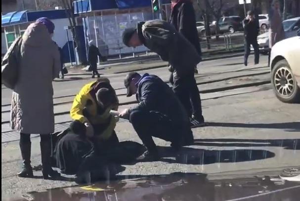 Для пешеходов горел