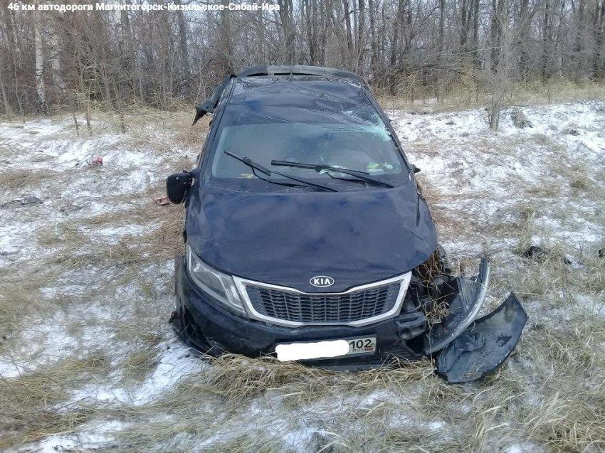 Автомобиль съехал в кювет
