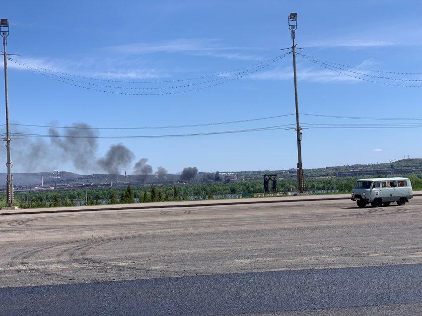 Пожар на левом берегу