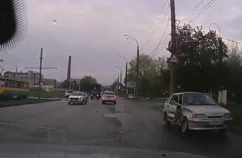 Тройное ДТП на улице Вокзальной