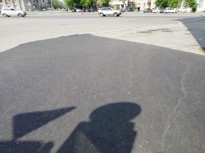 На Ленинградской новый тротуар!