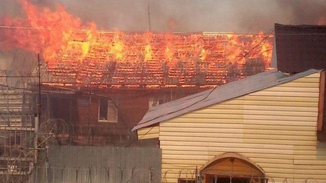В колонии в Свердловской области  произошел крупный пожар