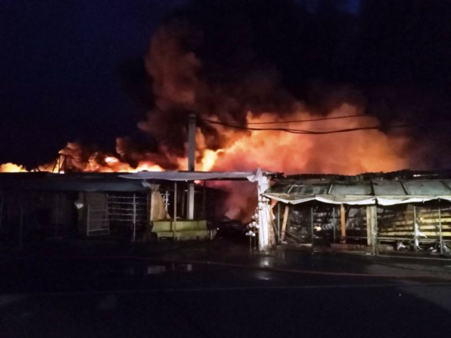 Ночью на ЦГЯ случился сильнейший пожар