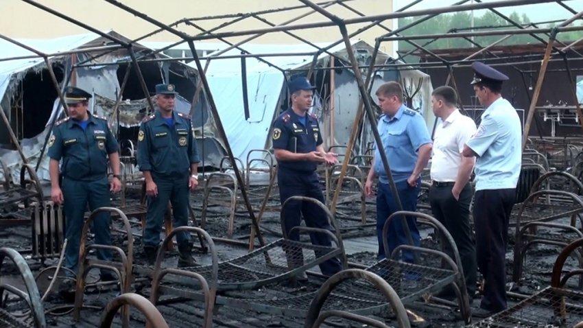 В детском лагере погибли четыре человека