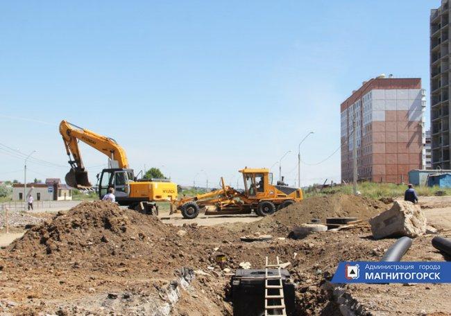 В городе строят новую дорогу