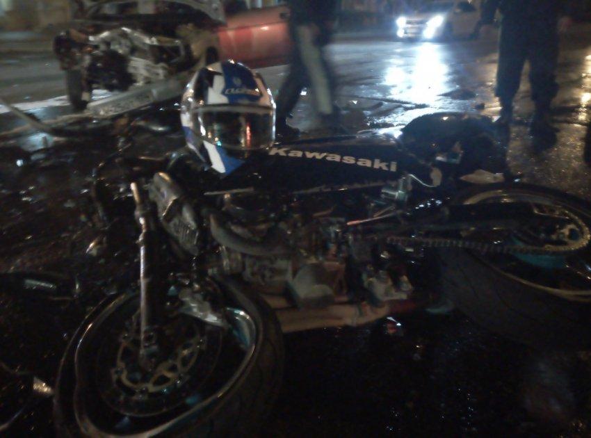 Мотоциклист попал в ДТП