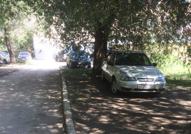 Газон - не парковка!