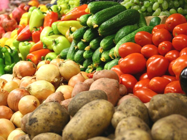 Овощи прямо с грядки!
