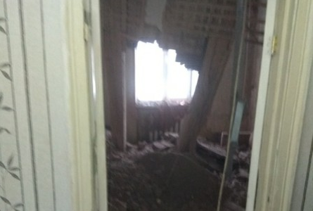В многоквартирном доме рухнул потолок
