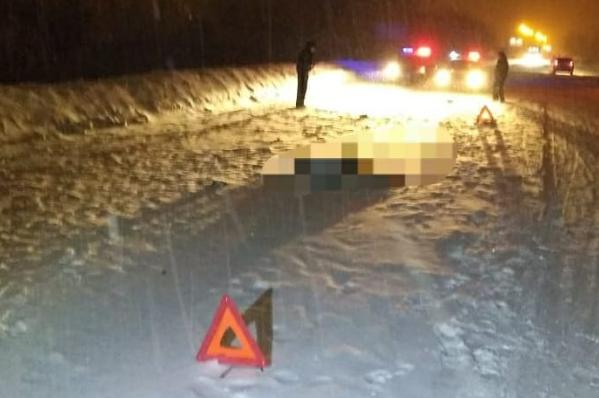 По дороге в аэропорт сбили человека