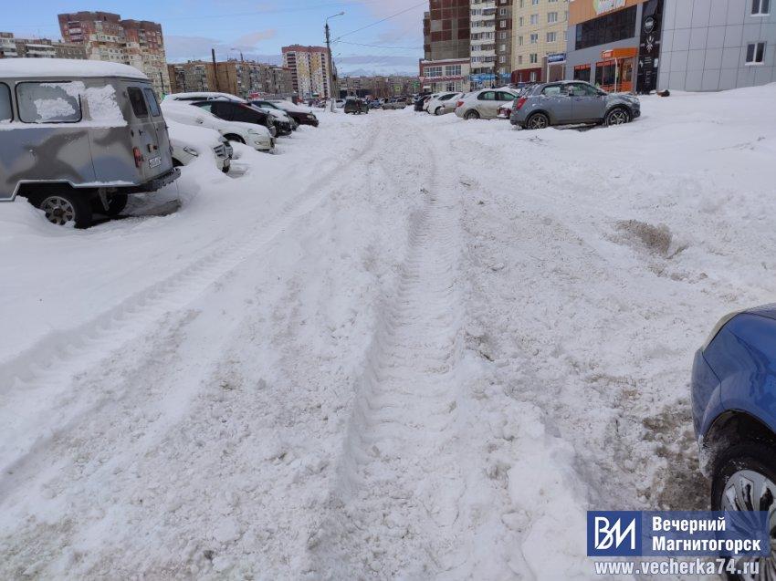 Снег в большом городе