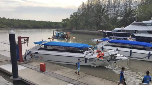 В Тайланде столкнулись два катера