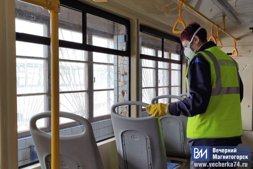 В городе началась дезинфекция трамваев