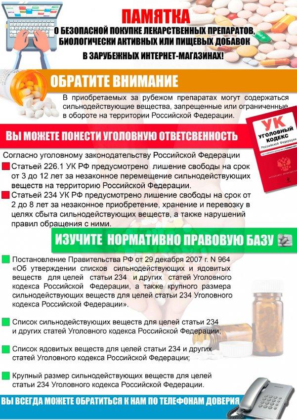 Заказываете лекарства на иностранных сайтах?
