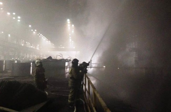 На ММК произошёл серьёзный пожар