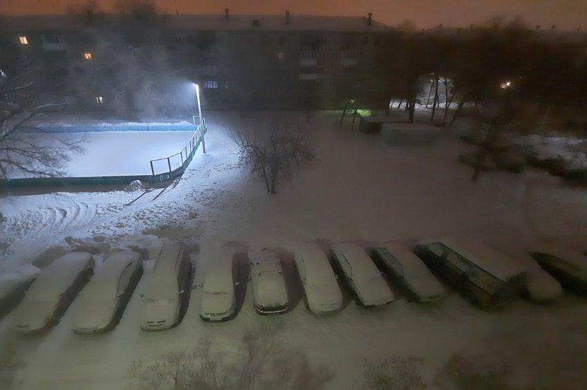 Снег и лёгкий мороз