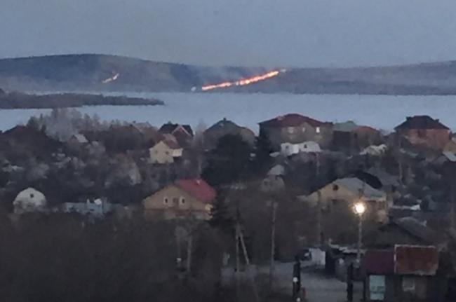 Недалеко от Магнитогорска горела степь