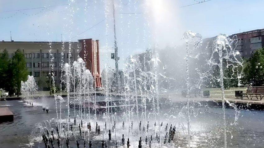 У фонтана так свежо!