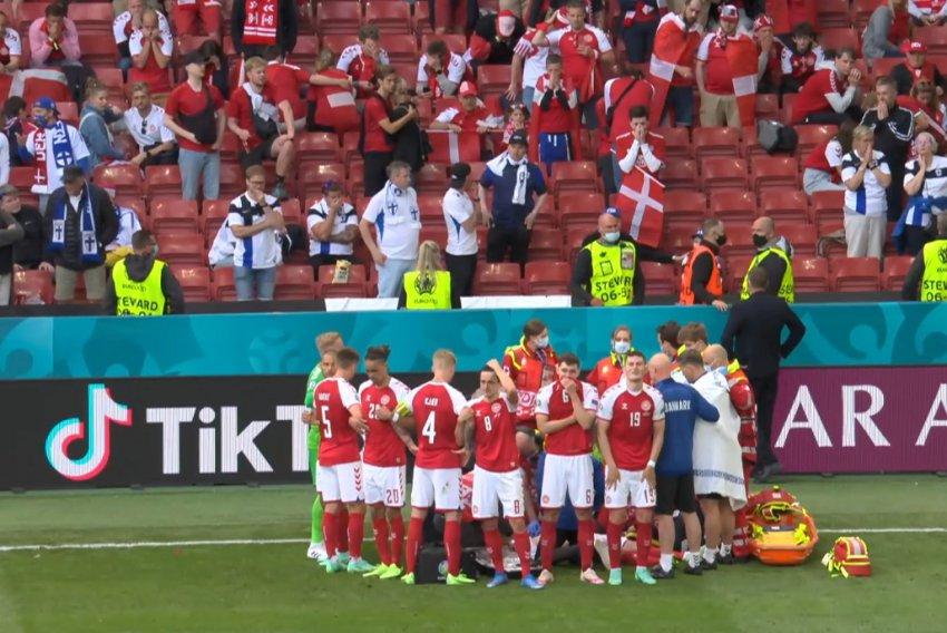 Врач сборной Дании рассказал, что случилось с Эриксеном