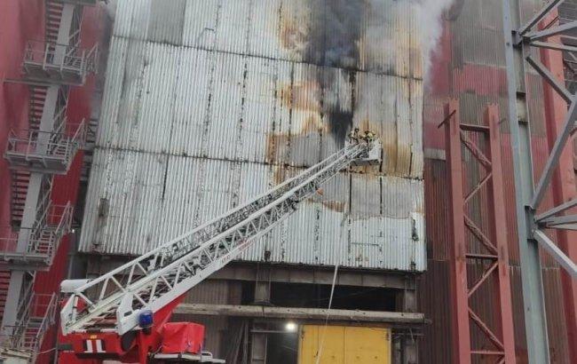 На ММК тушили пожар