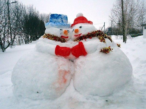 Как делать снежные фигуры своими руками